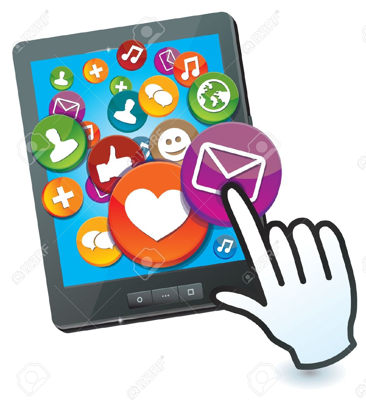 media-clipart-16595576-tablet-pc-with-social-media-icons-and-hand-cursor-Stock-Vector-internet